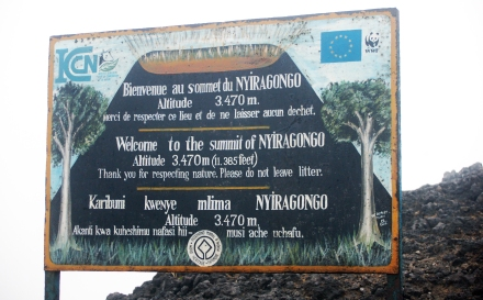 Summit of Nyiragongo volcano in North Kivu